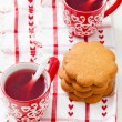 Christmas mulled wine and gingerbread - Stock Photo
