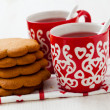 Stock Photo: Christmas mulled wine and gingerbread