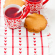 Christmas mulled wine and gingerbread — Photo