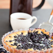 Stock Photo: Blueberry pie and coffee