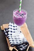 Blueberry milk smoothie — Stock Photo