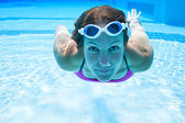 Underwater in pool — Stock Photo