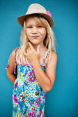 Stylish cute young girl — Stock Photo