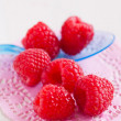 Постер, плакат: Fresh raspberries and spoon