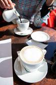 Kopje koffie latte — Stockfoto