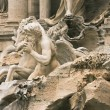 Fragment of sculptural decoration of Trevi Fountain — Stock Photo #13890543