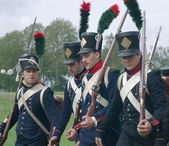 Napoleon's soldiers — Stock Photo