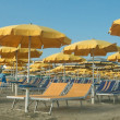 Royalty-Free Stock Photo: Umbrellas and sunbeds