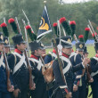 Napoleonic infantry — Stock Photo