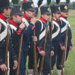 Napoleonic infantry in the ranks — Stock Photo