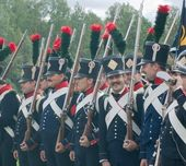 French Napoleonic infantry men — Stock Photo