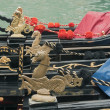 Decor of Venetian gondolas — Foto Stock