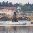 Stock Photo: Prague. river Vltavnear Charles bridge