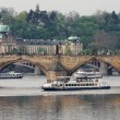 Stock Photo: Prague. Boats near Charles bridge