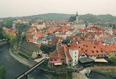 Cesky krumlov från en höjd — Stockfoto
