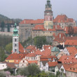 View of the castle Cesky Krumlov — Stock Photo