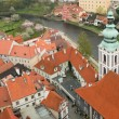 Stock Photo: Panoramof Cesky Krumlov from height