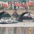 Vltava near the Charles Bridge — Foto Stock
