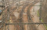 Background of railways — Stock Photo