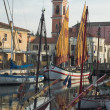 Stock Photo: Evening in port of Cesenatico