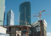 Construção de edifícios de escritórios — Foto Stock
