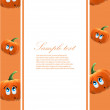Royalty-Free Stock Vector Image: Vector frame with pumpkins