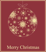 Vector Christmas greeting card — Vettoriale Stock