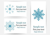 Vector set of greeting cards with snowflakes — Stock Vector