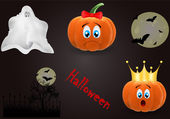 Vector set of objects related to Halloween — Stock Vector