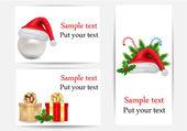 набор векторные рождественские открытки — Cтоковый вектор