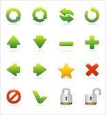 Set di icone web e internet — Vettoriale Stock