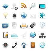 Conjunto de iconos de internet y la web — Vector de stock