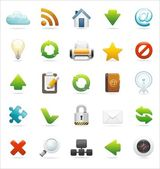 Browser and web icon set — 图库矢量图片