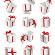 Stock Photo: Gift box set