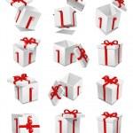 Gift box set — Stock Photo
