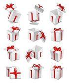 Sistema de la caja de regalo — Foto de Stock