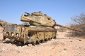Destroyed tank in Somalia — Stock Photo