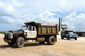Salt production on Guakhir's peninsula — Stock Photo