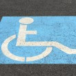 Parking sign for disabled — Stock Photo