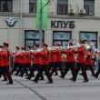 Orchestra of Switzerland on parade of participants of international festival of military orchestras — Stock Photo