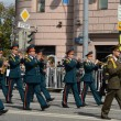 Orchestra оf Belorussia on parade of participants of international festival of military orchestras — Stock Photo