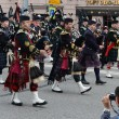 Orchestra Scotland on parade of participants of international festival of military orchestras — Stock Photo