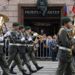 Orchestra of Austria on parade of participants of international festival of military orchestras — Stock Photo #33100607