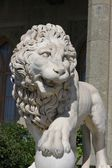 Crimea Sculptire of Medici lion, southern facade of Vorontsov palace — Stock Photo
