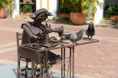 The sculptures in the Museum of modern art in Cartagena — Stock Photo