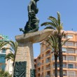 Memorial to fishermen   in Torrevieja — Stock Photo
