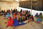 School camp for African refugees on the outskirts of Hargeisa — Stock Photo