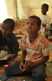 School camp for African refugees on the outskirts of Hargeisa — Stock fotografie