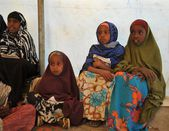 School camp for African refugees on the outskirts of Hargeisa — ストック写真