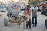 Water truck in the street of Hargeisa — Stock Photo